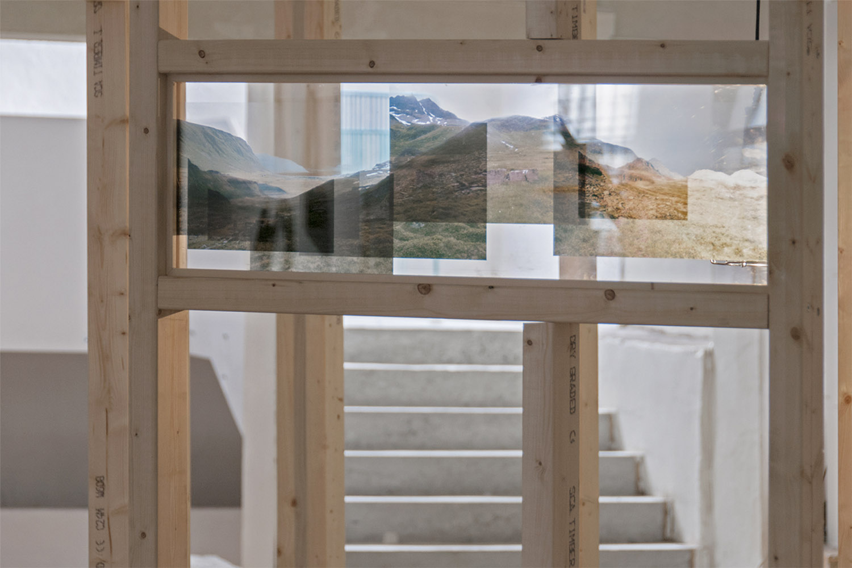 Installation view from the group exhibition  Rift,  Bergen Kjøtt.