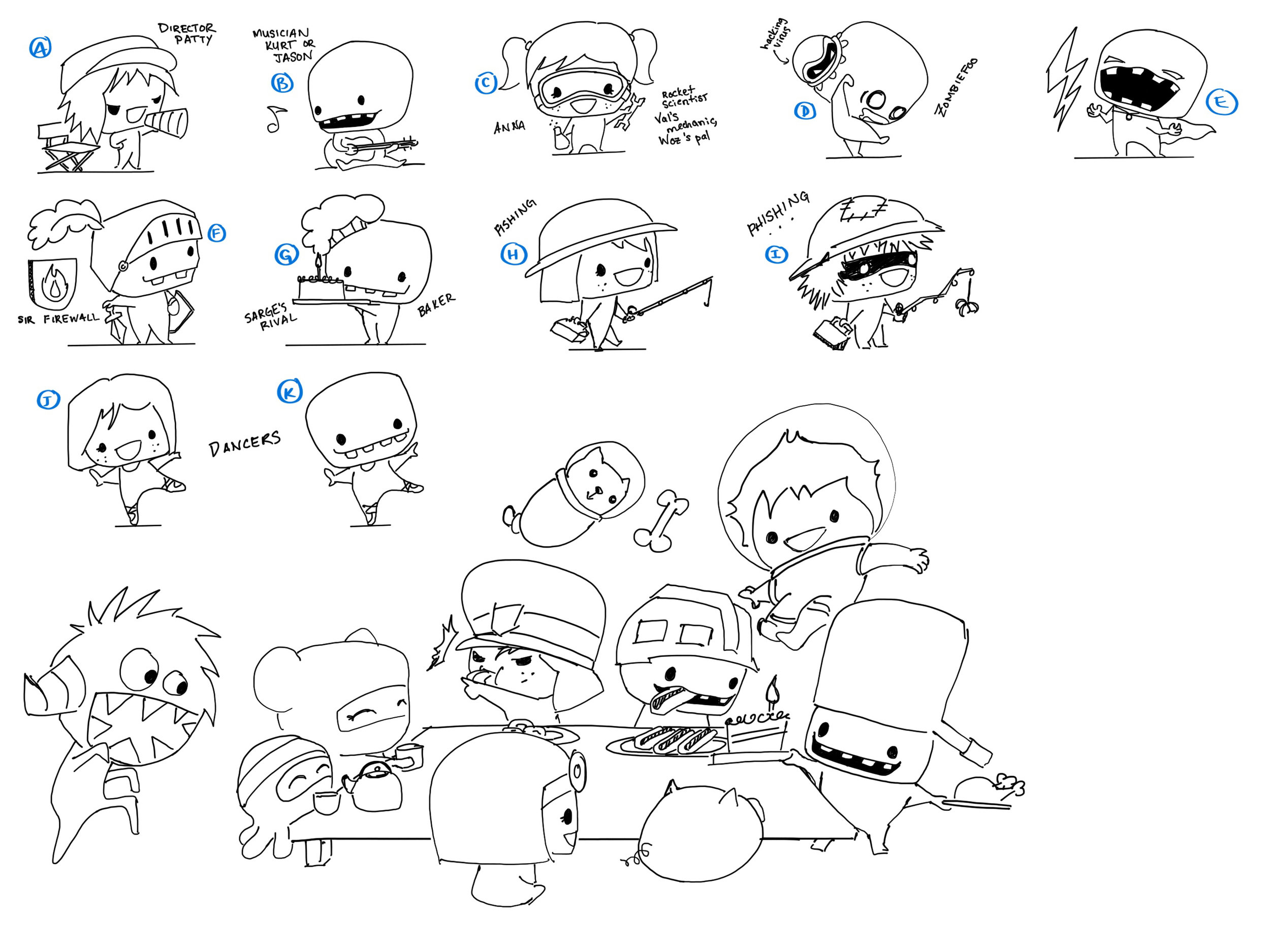 More character looks and concepts for Foos