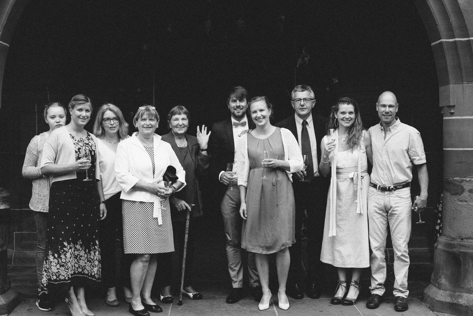 Gruppenbilder in Schwarzweiss