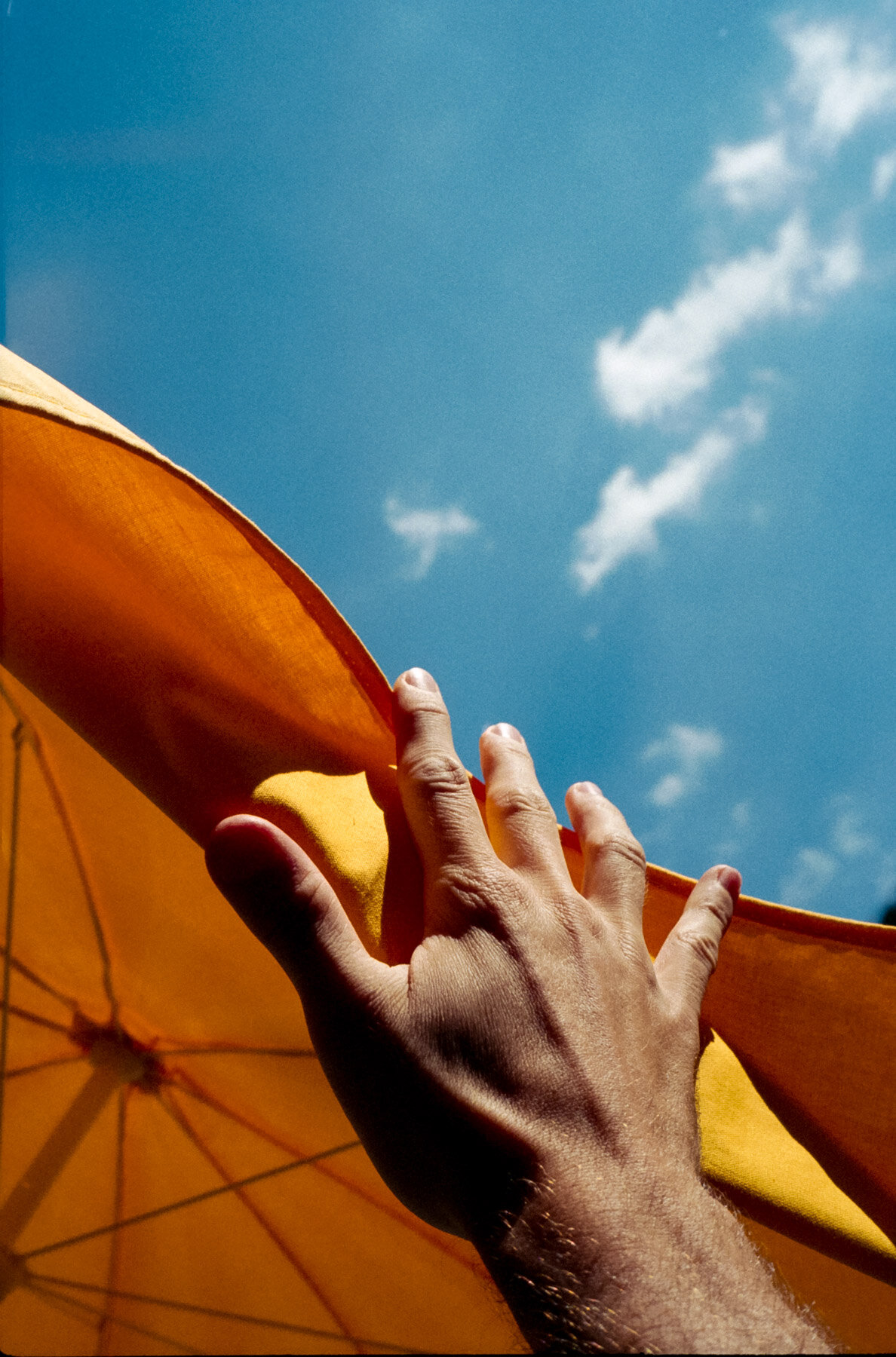 Sonnenschirm Hand