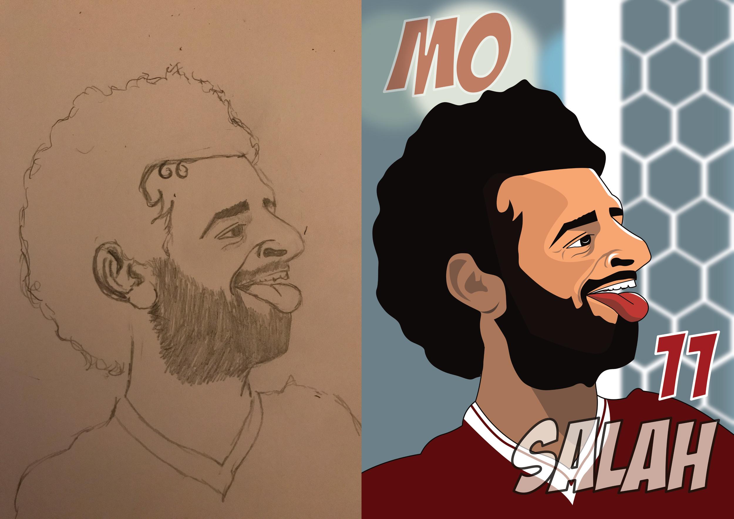 Mo salah - Pencil to Print