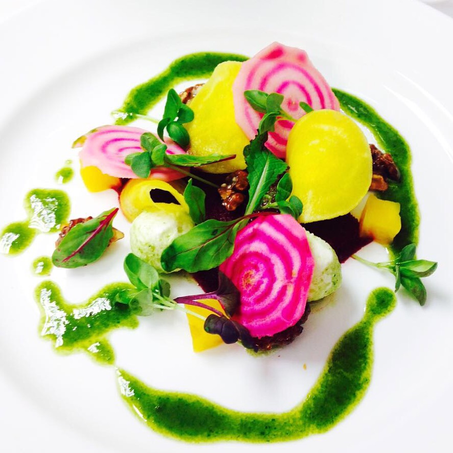 Beet and Fivemiletown goats cheese salad.JPG
