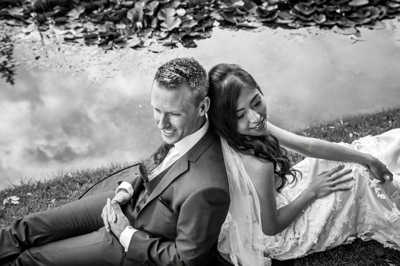 Wedding Couple at Triton Lake Bk & White.jpg