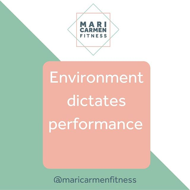 ENVIRONMENT DICTATES PERFORMANCE  Surround yourself with people who want the same as you or at least with people that support and understand your goals. Ensure your approach is sustainable and suits your lifestyle in order to not fail at the first hurdle.  Take FAT LOSS for example. There are so many diets out there with a common theme 'calorie deficit'. Pick one that suits you. For example, if you love carbs don't then start a low carb diet as I guarantee you will fail within the first few weeks. I calorie count as this fits in with my family life and it means I can have a little bit of everything whilst ensuring it fits within my macros.  Another tip make 'The good habits EASY to do' and 'The bad habits HARD to do'. For example, a good habit would be going to gym after work. Make sure you pack your gym kit in your car so you can go straight from work. If you go home to get changed you are so much more likely to think of an excuse. If you are a busy mum make the most of the early mornings and get some exercise in whether it be a walk or a home workout. This will keep you in good stead for the rest of the day and give you a more positive frame of mind. Trust me!  A bad habit would be eating ice cream every night. Swap your Ben and Jerry's ice cream for #halotop. You are still having ice cream but enjoying a lower calorie option.  Another bad habit could be maybe snacking before bed. Replace this bad habit with a good habit. Instead go to bed earlier and read a chapter of a book. This will take your mind off the snacking and will create a good habit. I am trying to read more before bed as I sleep better and it stops me scrolling through social media. Make sense?  What are your bad and good habits? Comment below 👍🏻
