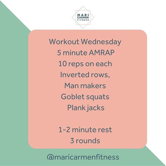 WORKOUT WEDNESDAY  Better late than never.  As many rounds for time (5 minutes), 1-2 minutes off, 3 rounds. Give it a go #noexcuses