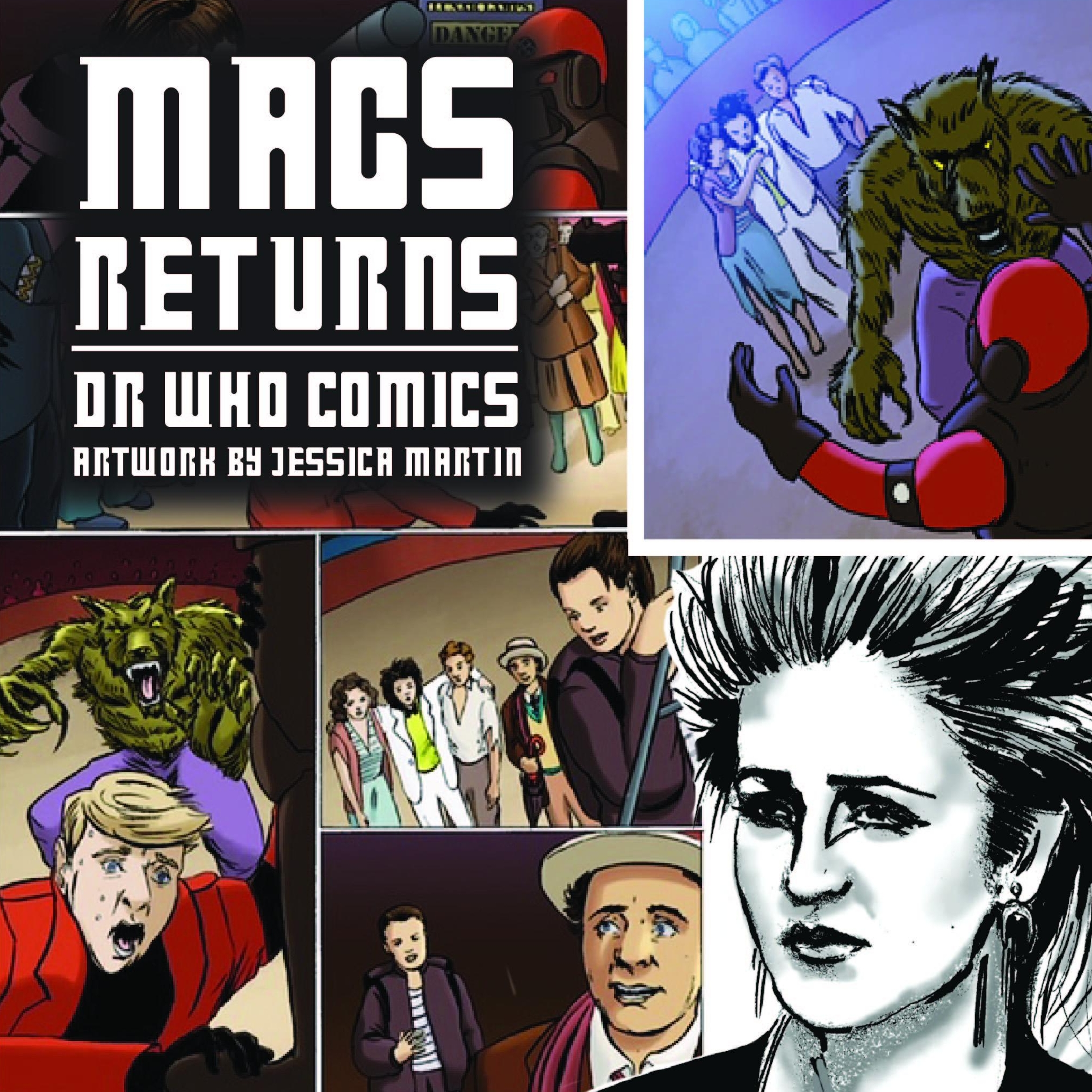 Dr Who comics - Jessica's artwork was featured in Dr Who comics 'the seventh doctor' series, in stories featuring Mags, her character from the series.