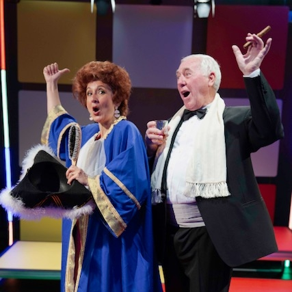 """""""Jessica Martin is terrific - Jessica Martin is terrific as the flamboyantly arrogant and unrepentant Porter wearing a variety of colourful outfits.""""- The Stage"""
