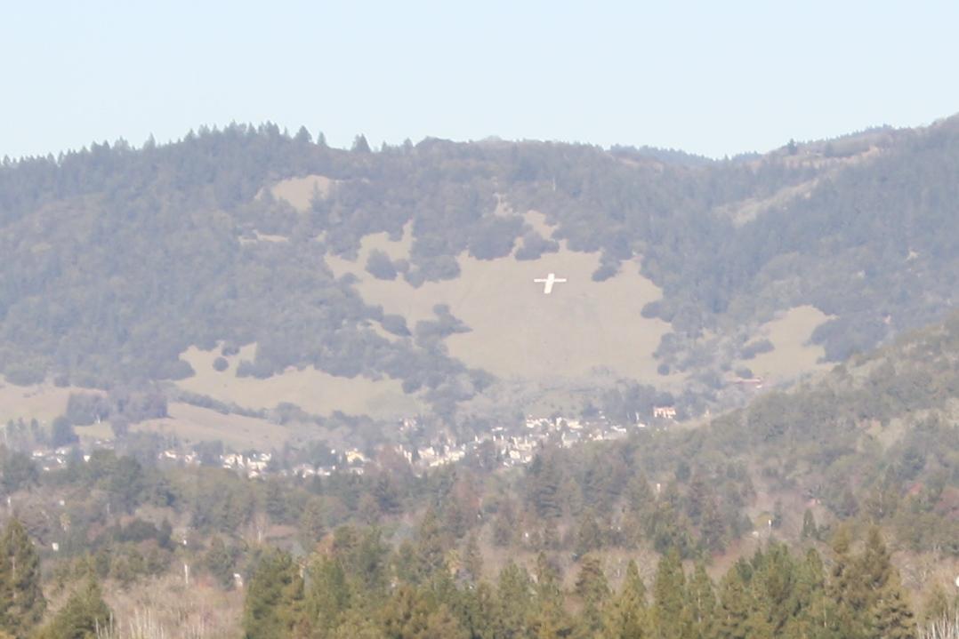 Hillside cross in Santa Rosa