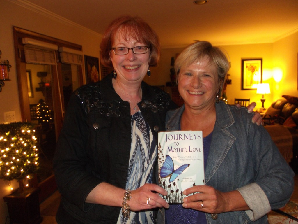 """Ardis and me celebrating the release of her story in """"Journeys to Mother Love,"""" October 2012."""
