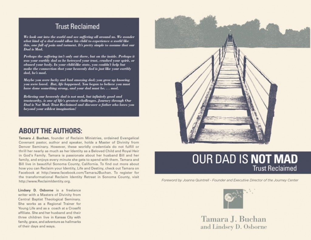 """""""Our Dad's Not Mad: Trust Reclaimed"""" release date, June 2015."""