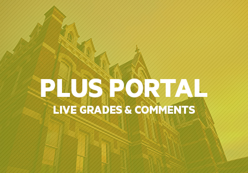 ENTER     Plus Portal provides access to students' grades and teacher comments.