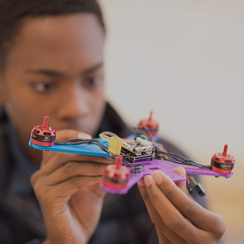 ENGINEERING<span>The Applied Engineering Program is designed to inspire and promote curiosity in this diverse field.<span>