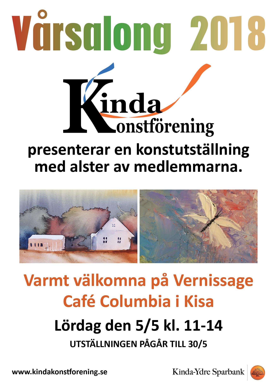 Vårsalong med Kinda konstförening - Varmt välkommen på vernissage lördagen den 5 majkl: 11:00-15:00 på Café Columbia i Kisa, då jag ställer ut mina fotografier tillsammans med andra medlemmar i Kinda konstförening. Utställningen pågår till 30 maj.