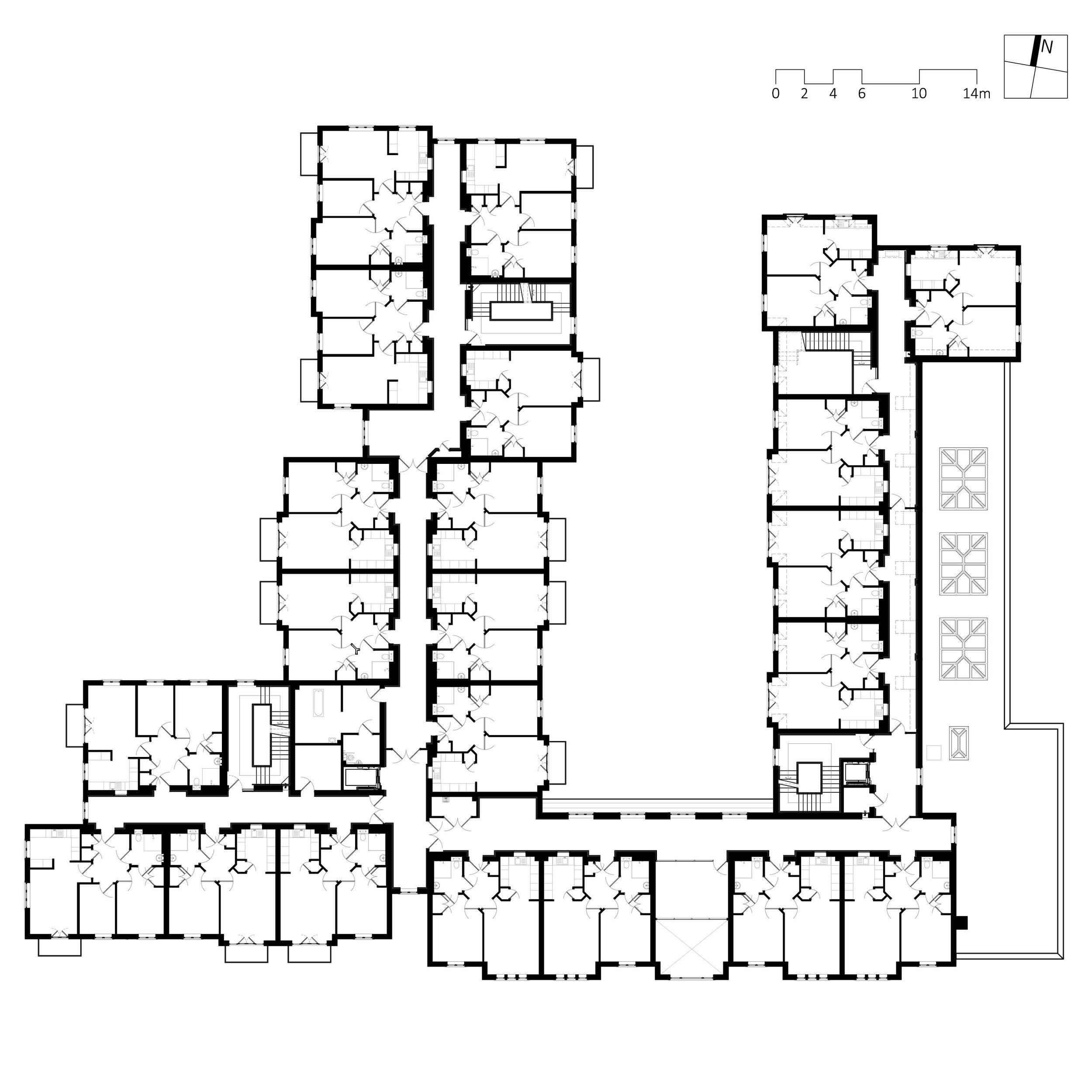 typical floor plan of building