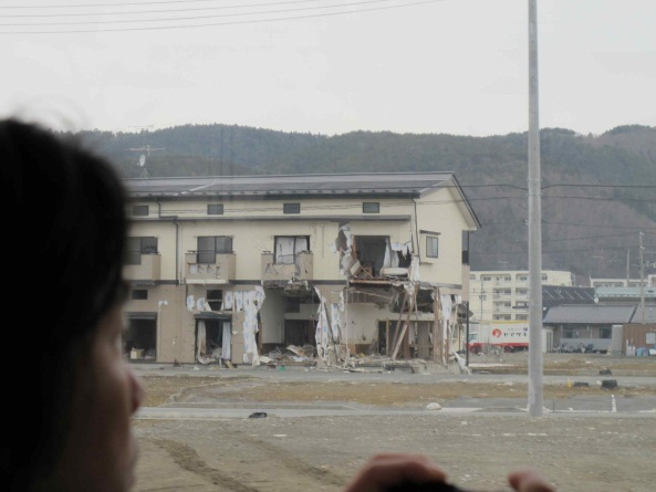Figure 3 - Damaged building in Onagawa area
