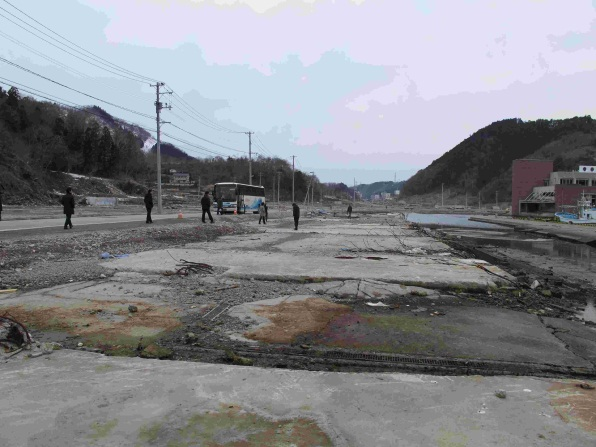 Figure 4 - Warehouse foundations, Onagawa Port