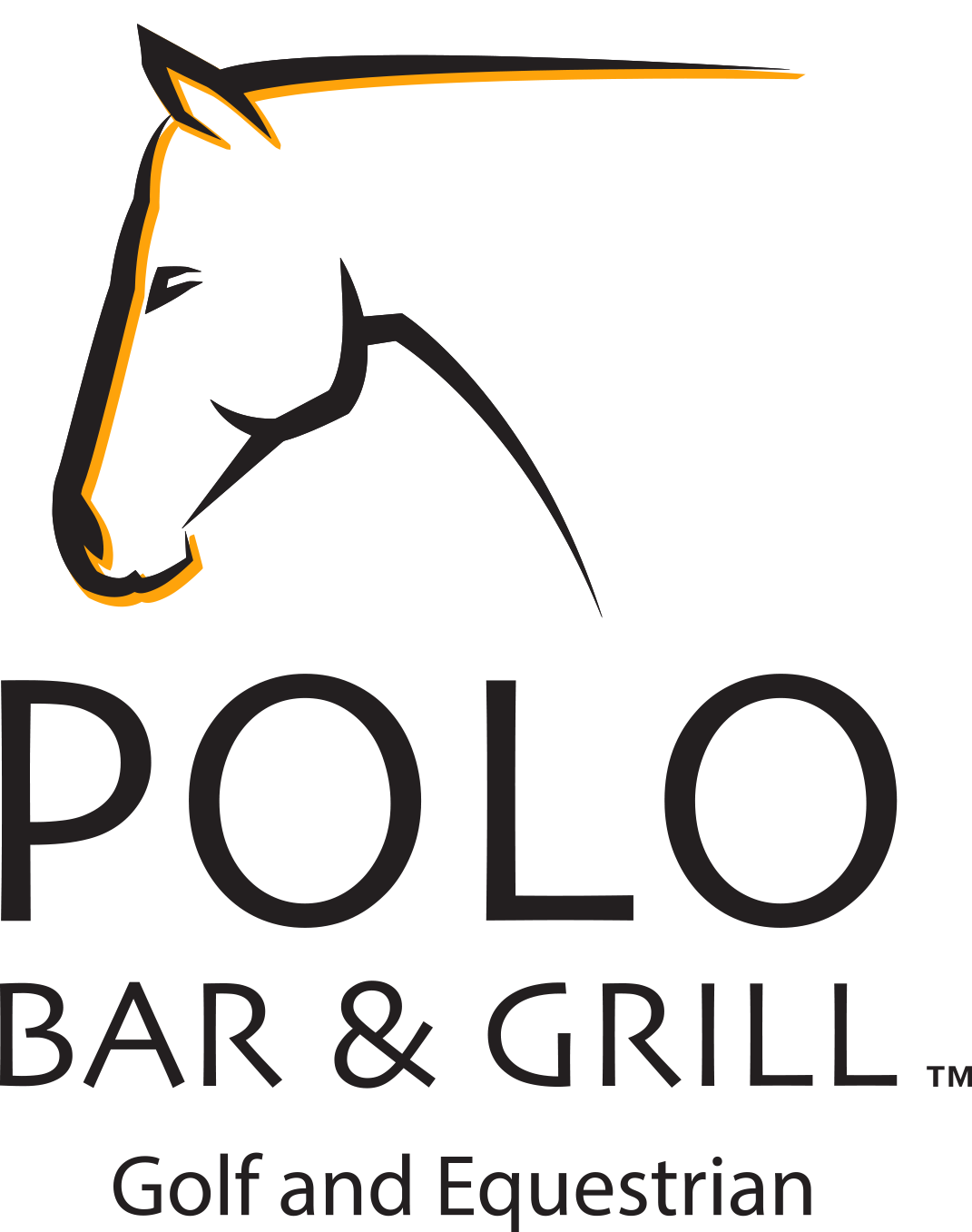 Polo Bar and Grill-Gold & Equestrian Logo