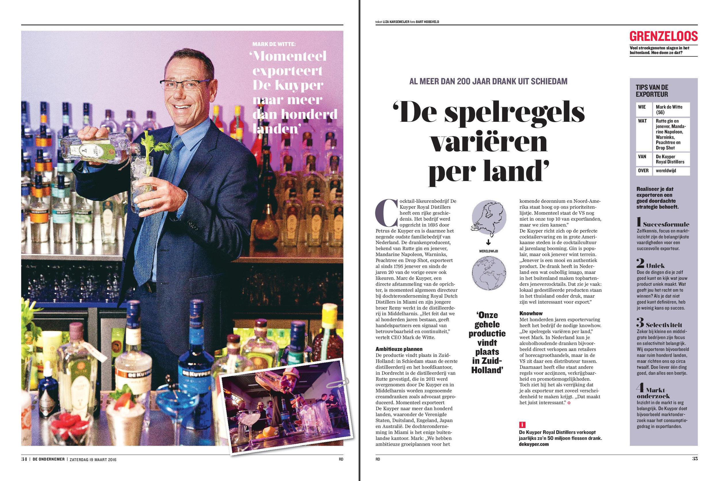 Interview CEO De Kuyper distilleerderij
