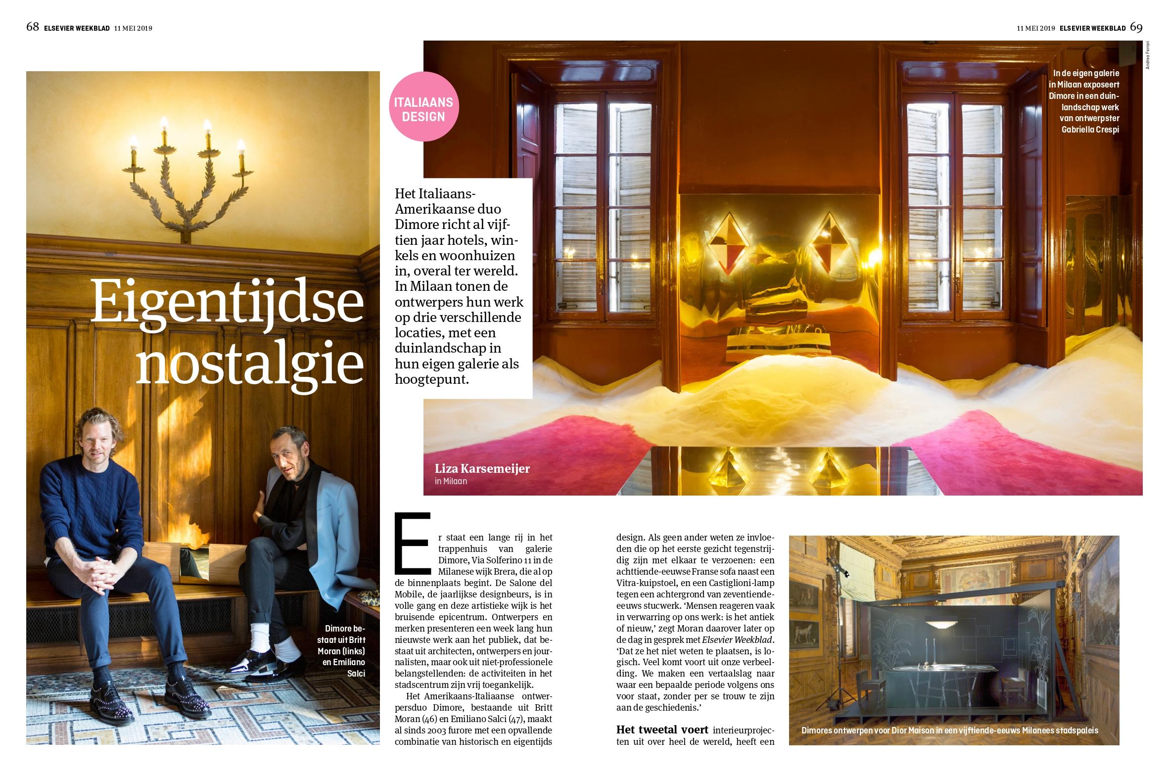 Interview designstudio Dimore in Milaan