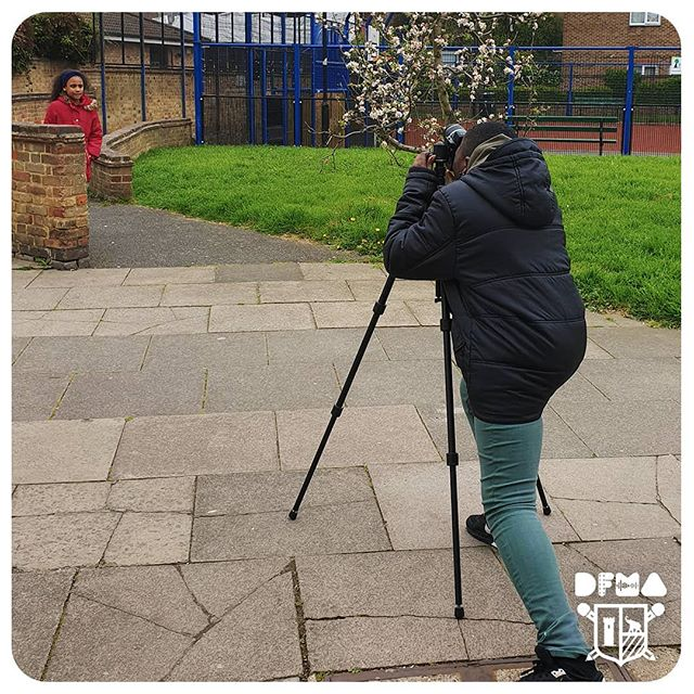 Andrew taking some architecture shots of the Draper Estate. #DFMA #elephantandcastle #photography #architecture