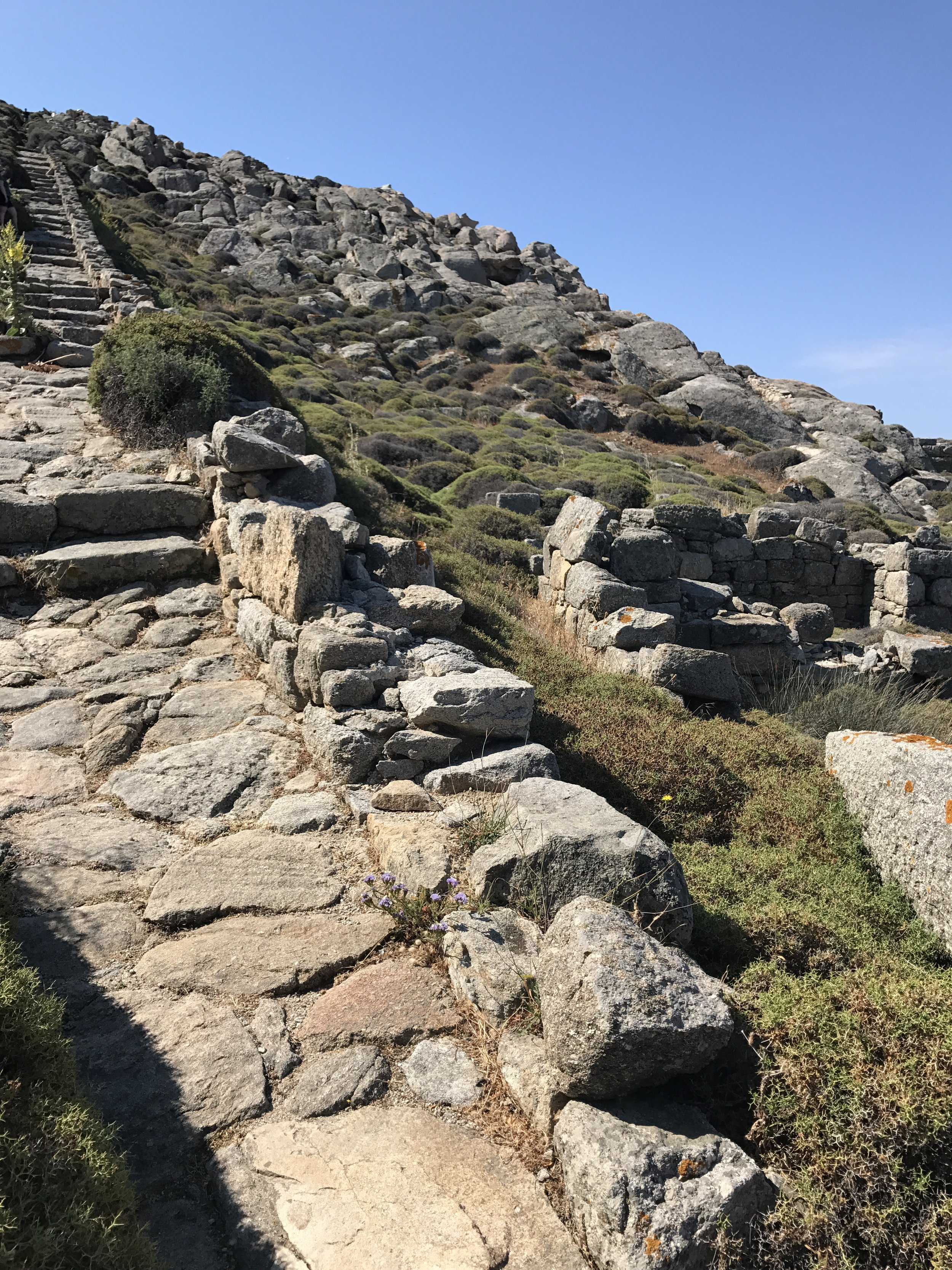 Stairs to Mount Kynthos