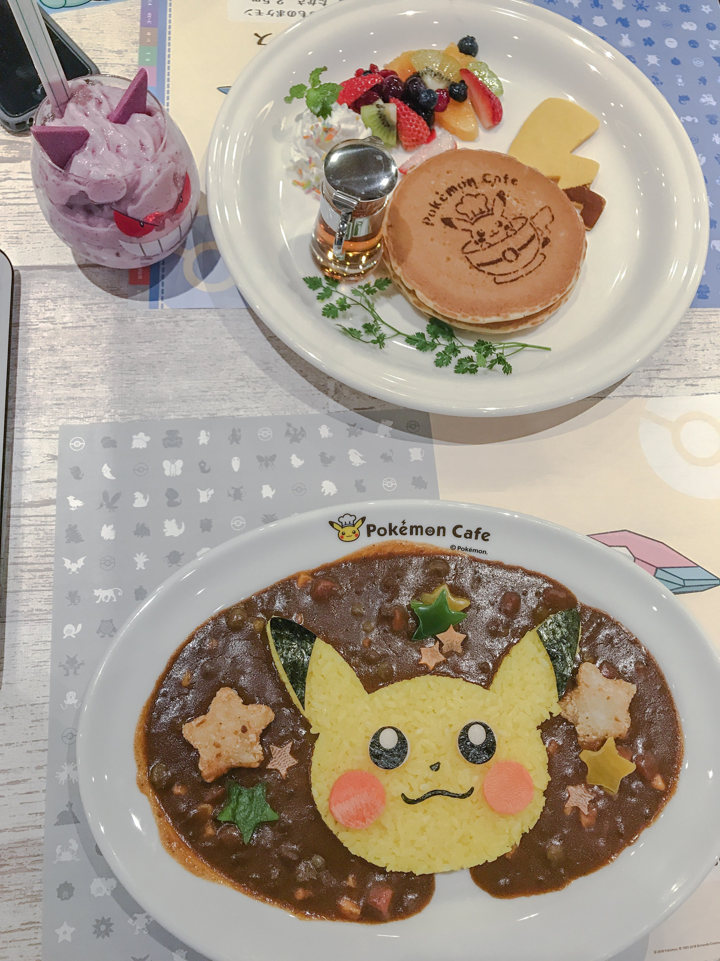 Pikachu Curry and Pancakes