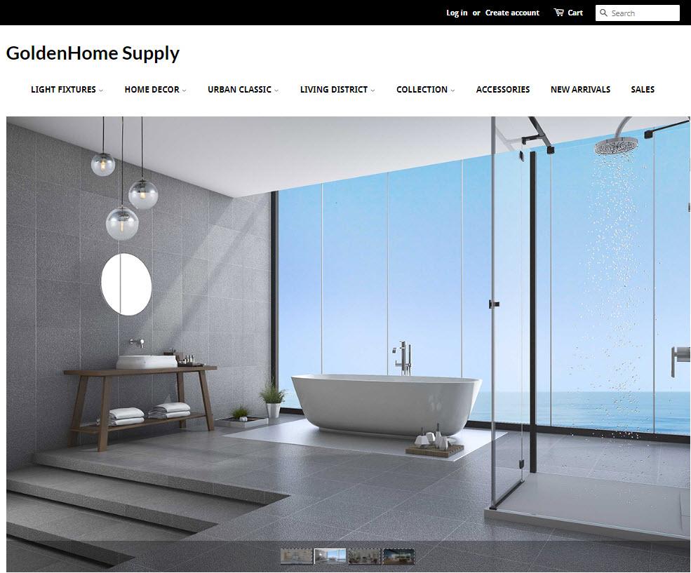 GoldenHome Supply Website