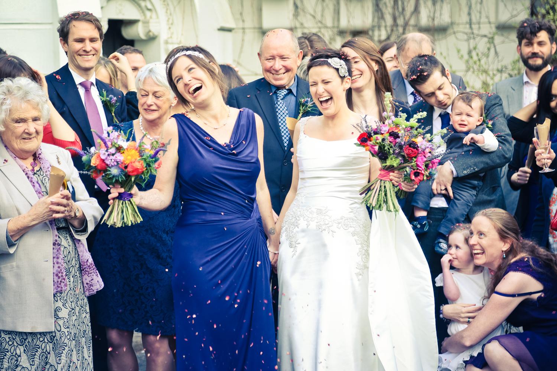 Same sex couple documentary wedding photography