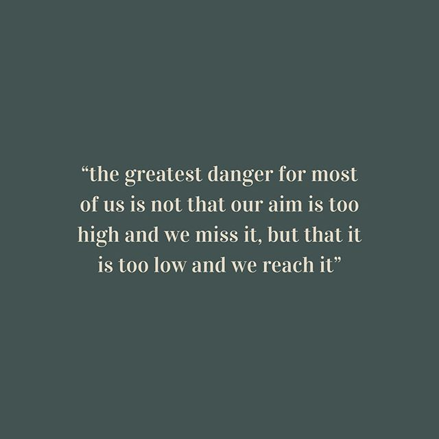 Aim high...⁣ ⁣ #michelangelo #dariasquoteoftheday #darianova #aimhigh #motivationalquoteoftheday #finalpush