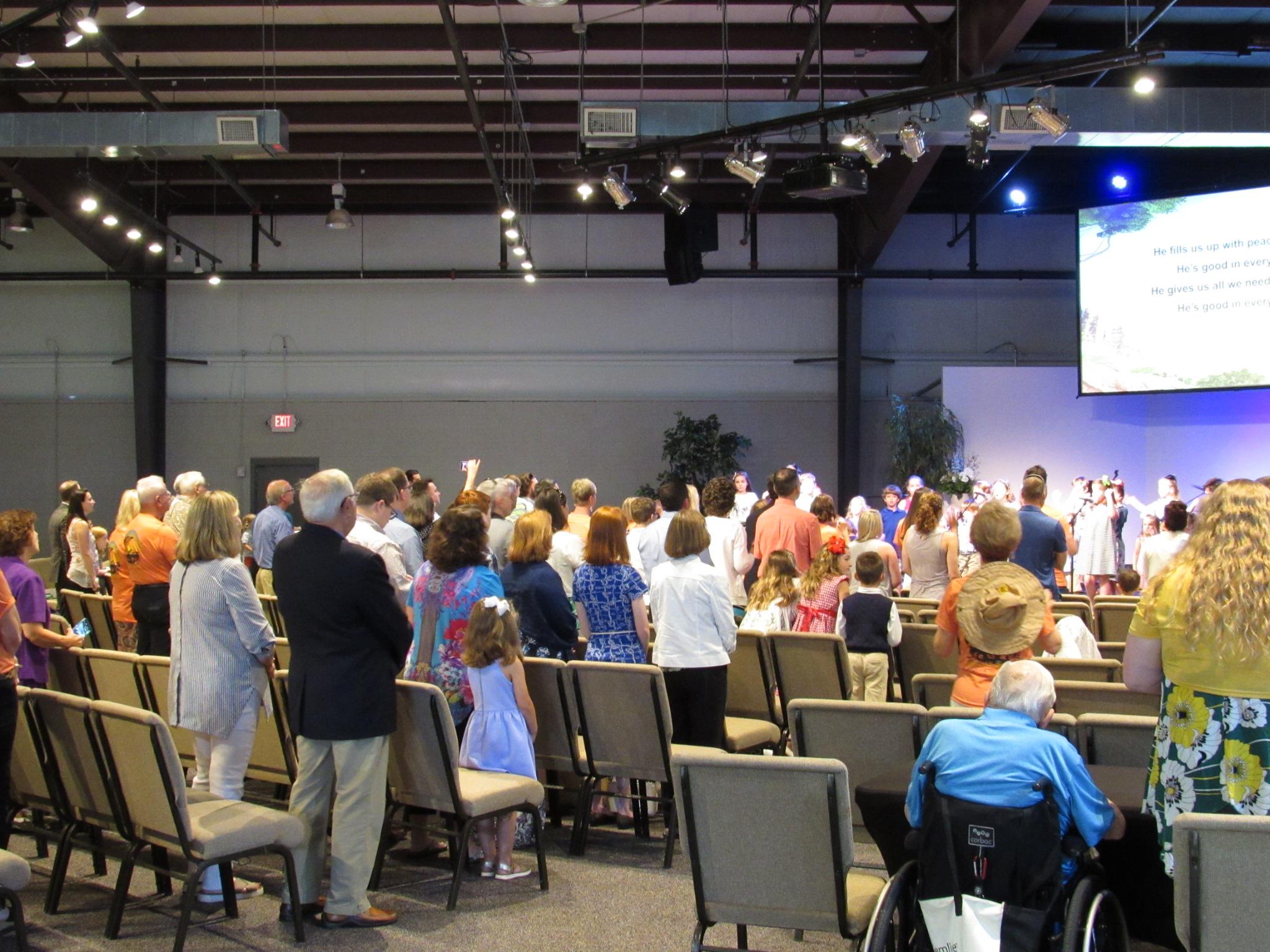 VBS kids lead the church in worship