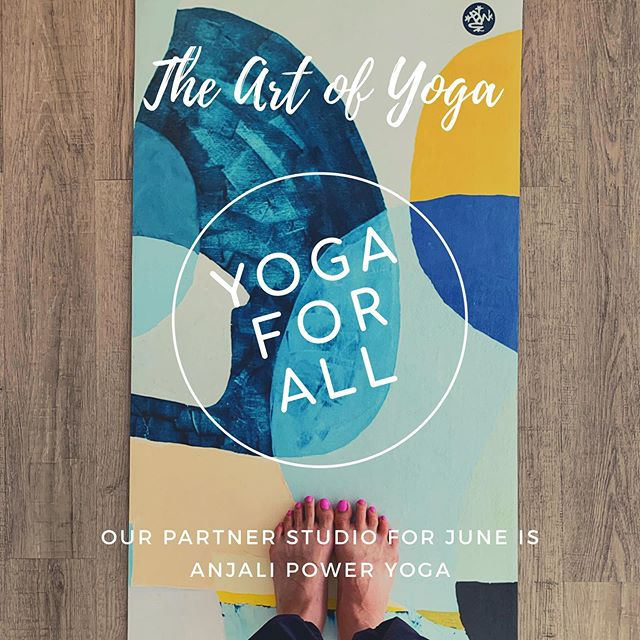 Happy Friday!!! ... We love art. We love collaboration. We love community...and we LOVE yoga! What better way to bring everyone & everything together than to partner up with our yoga studio friends. Each month we are partnering up with different yoga studios in the South Jersey / Philly area. ... .. For the month of June- we are partnering with @anjalipoweryoga & giving each person who comes to our Sunday evening community class a 10% discount on any class packages at Anjali Power Yoga. ... All you need to do is come to class at the gallery Sunday 7:15pm-8:15pm- do some yoga & you get to do more yoga during the week at Anjali! See you on your mat. xo ... #namaste ✌🏼❤️😊