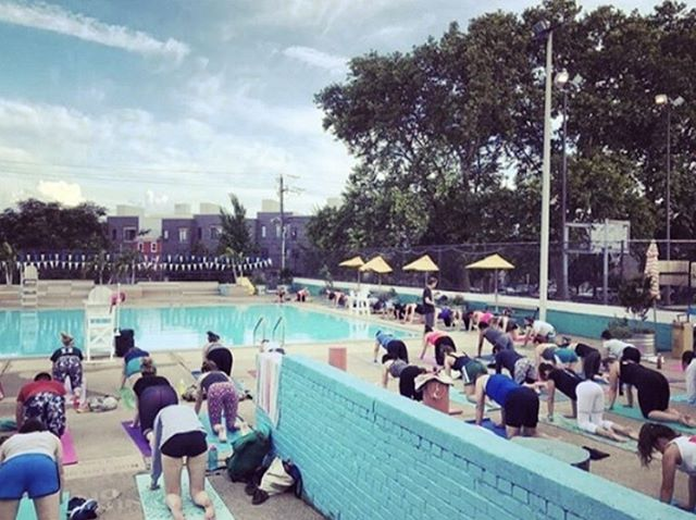 From July 2- Aug 13 at 7pm @krisgo123 + @allyssa_hutch will be switching off every Tuesday to teach a free class at Francisville Pool in Philly for @roots2rise in partnership with @yogahabit & SwimPhilly ✌🏼❤️🧘🏻♀️🏊♀️✨ #yogaforall #yoga #phillyyoga #goyoga