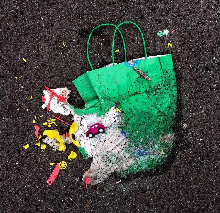 Party Bag, Someones Rubbish, Brighton and Hove, 2016.