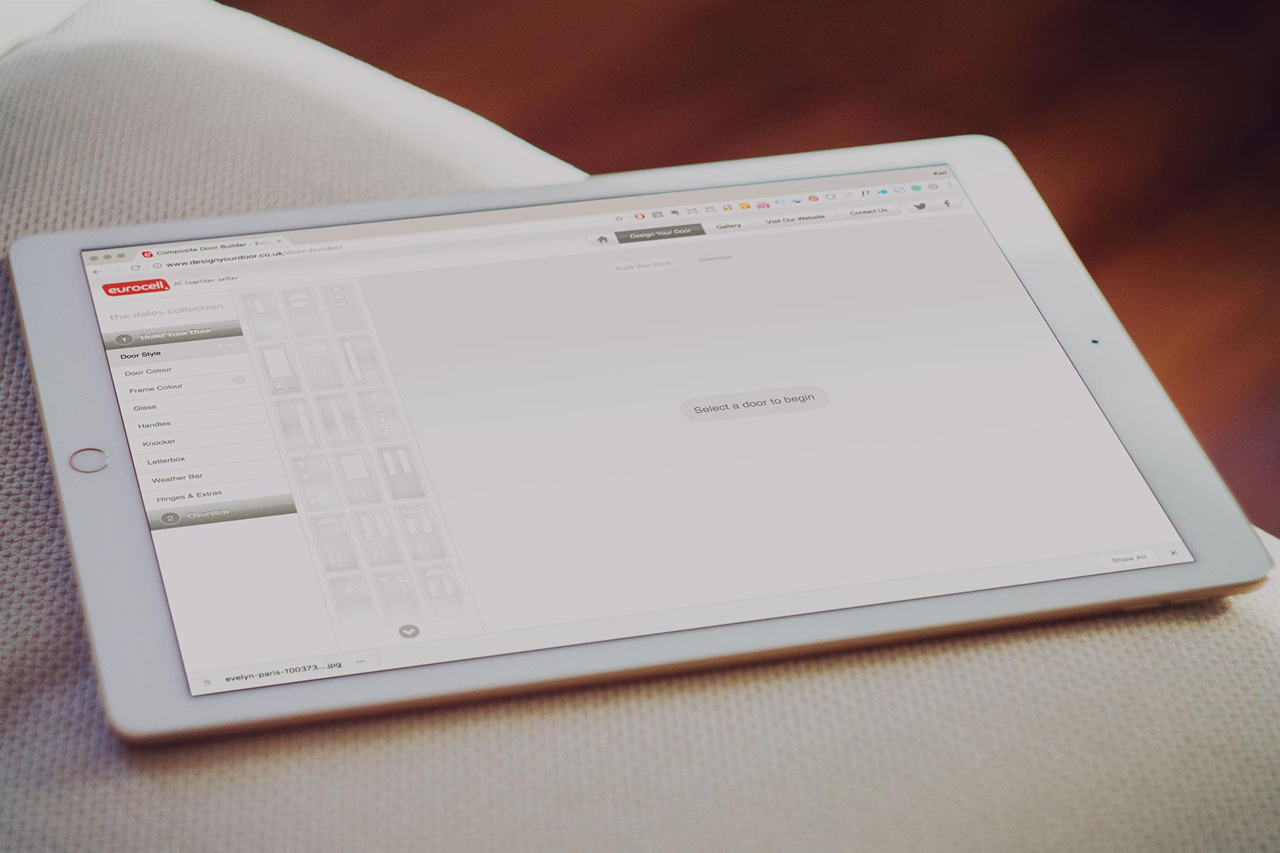 Eurocell PLC Configurator  - Start Screen