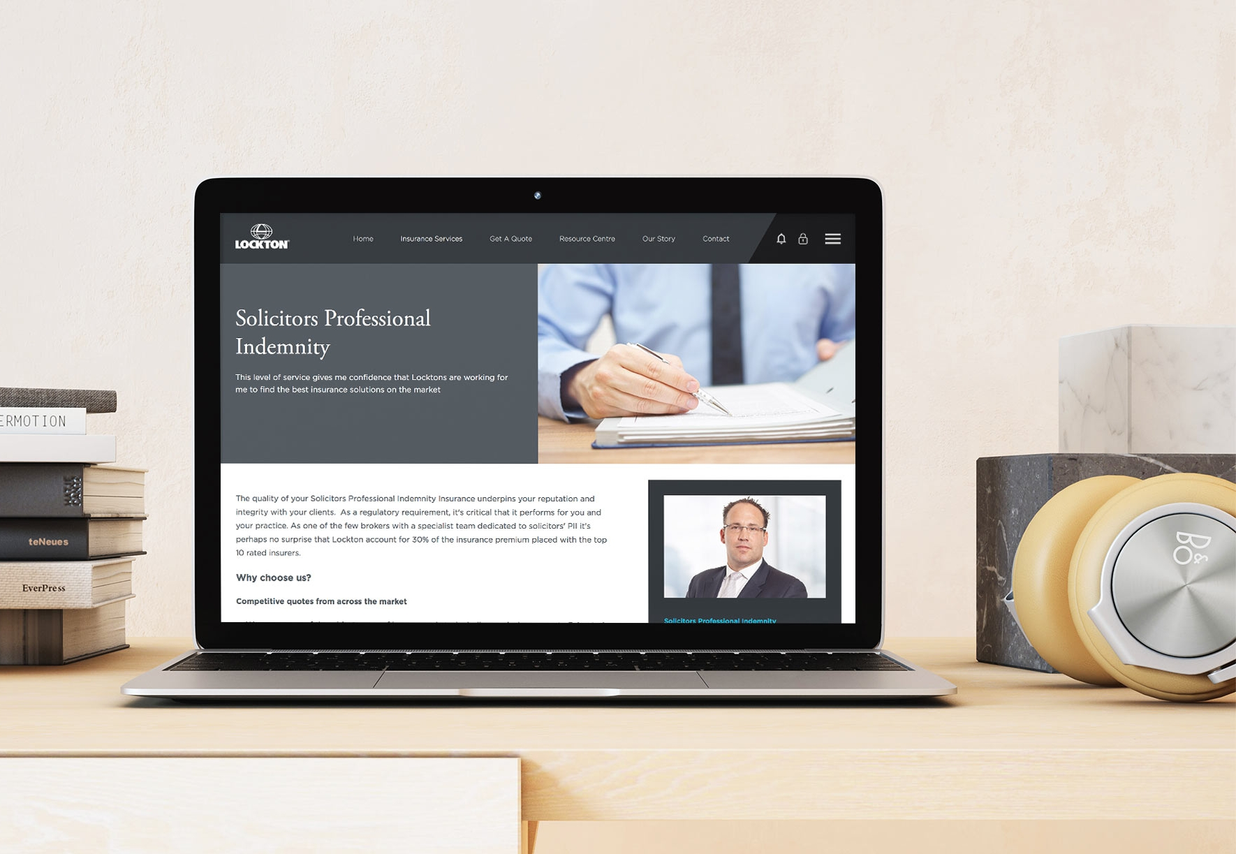 Lockton Solicitors - A new enterprise look and feel with unified templating and features across the front end, back office and client dashboards, ready to deploy across the entire suite of service sites.