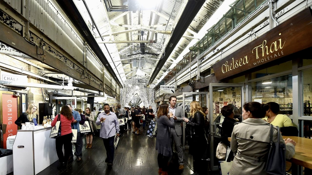 The energy of retail and restaurants at Chelsea Market. Does this look like part of a workplace?