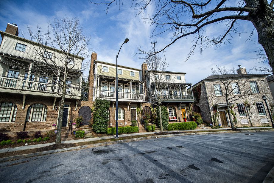 Residences were designed to have front porches and decks as well as be situated close to sidewalks and streets. This density is by design - to encourage neighborly conversations and visits.