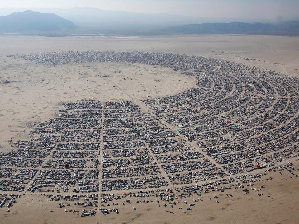 "70,000 ""burners"" congregate each year in the desert."
