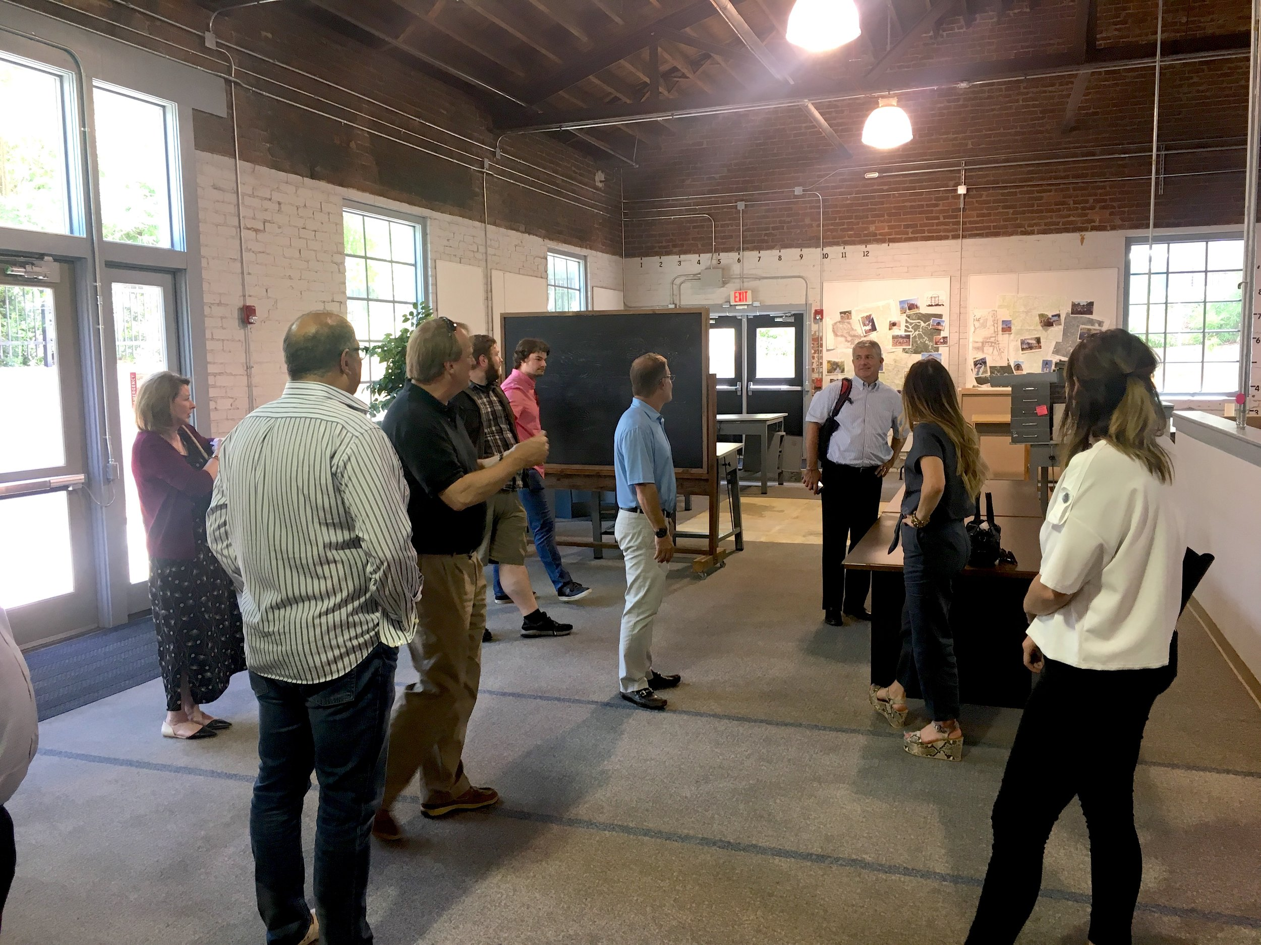 Program Director Bob Pinckney gives us a tour of the student incubator co-working space.