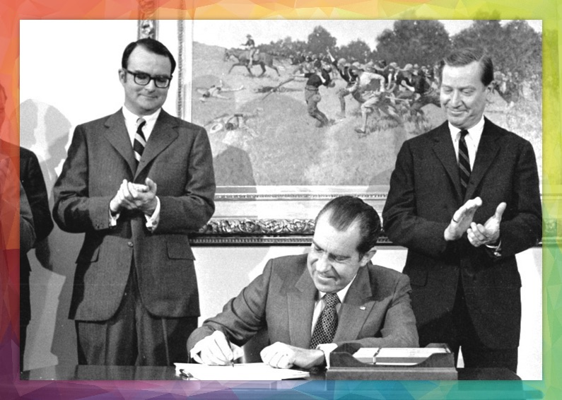 President Richard Nixon signs the Clean Air Act of 1970.