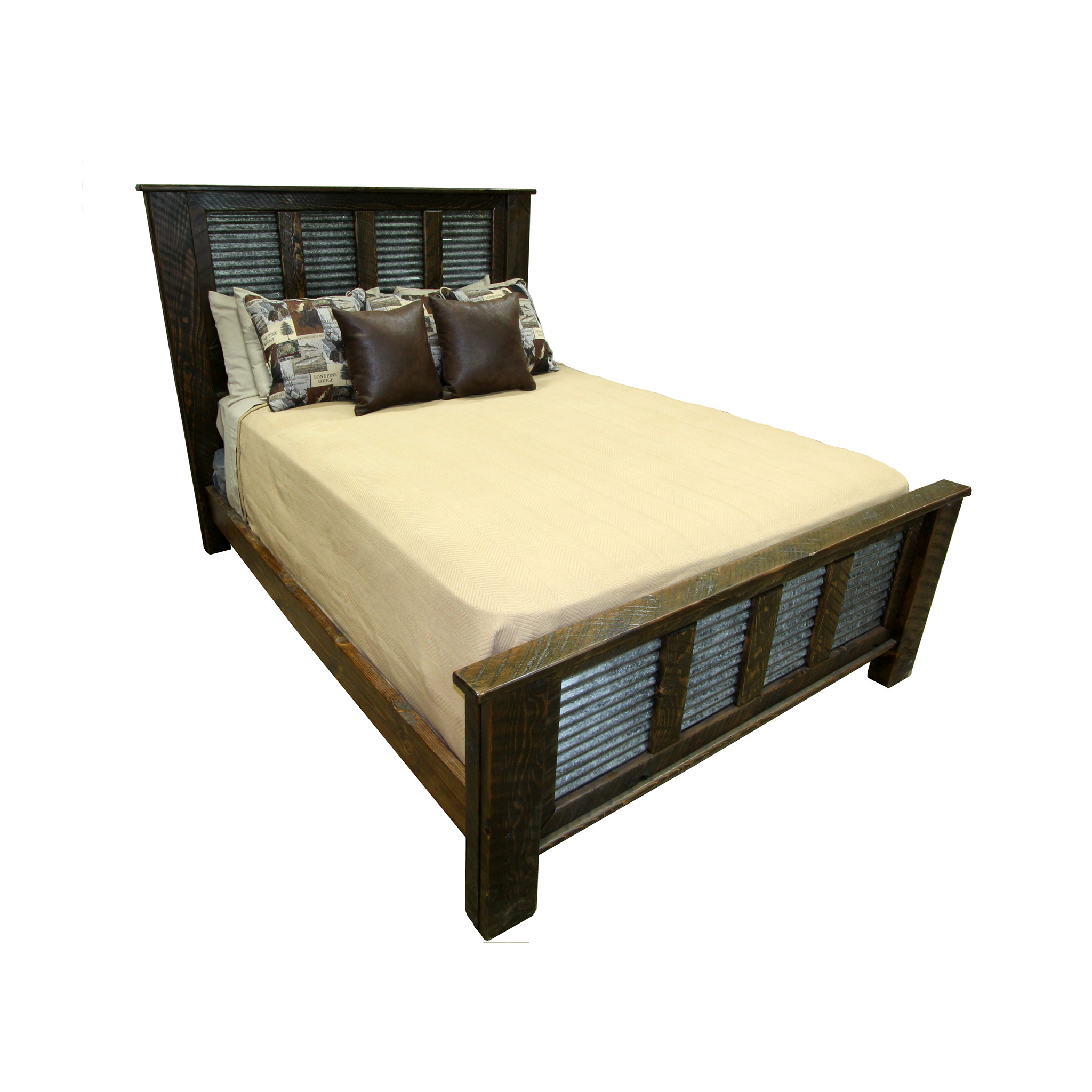 Rough Sawn Silverbow Bed in Espresso