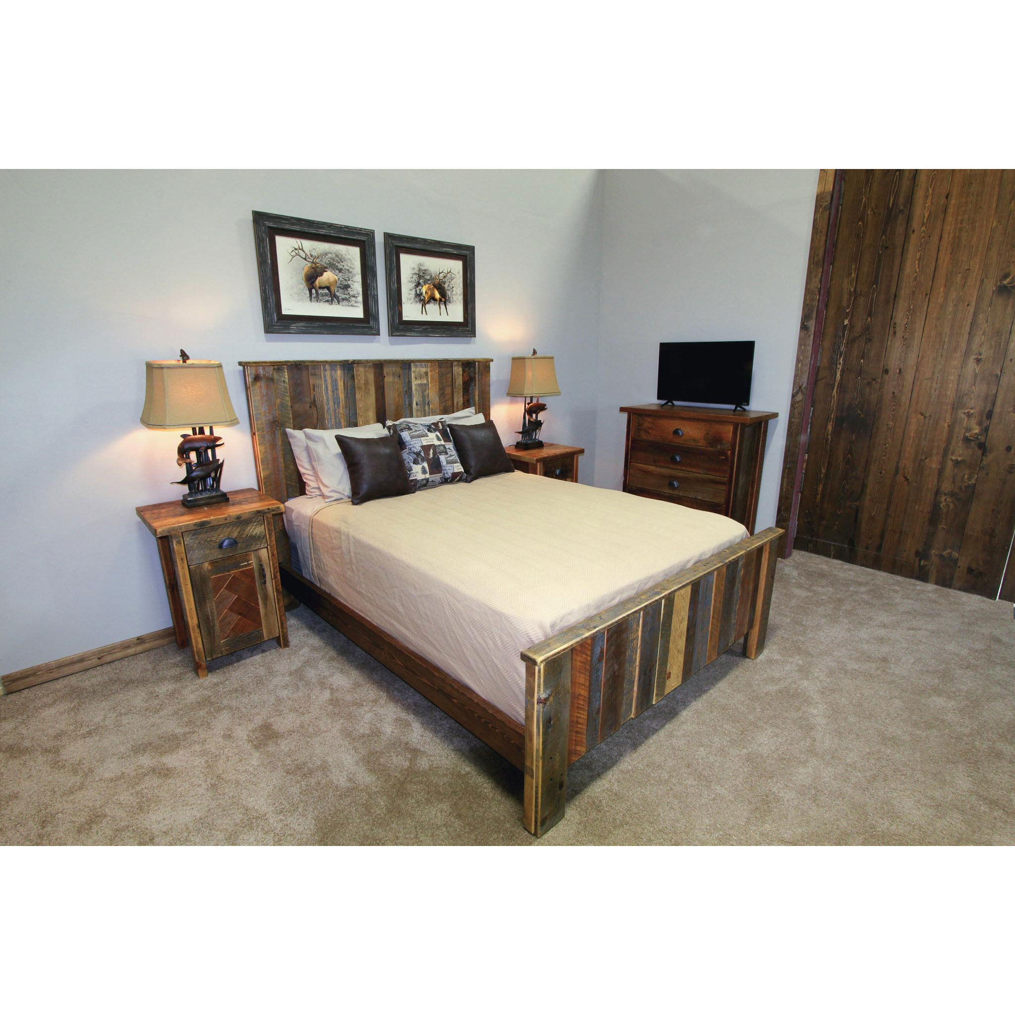 yellowstone  This bed is made of reclaimed vertical plank barnwood.