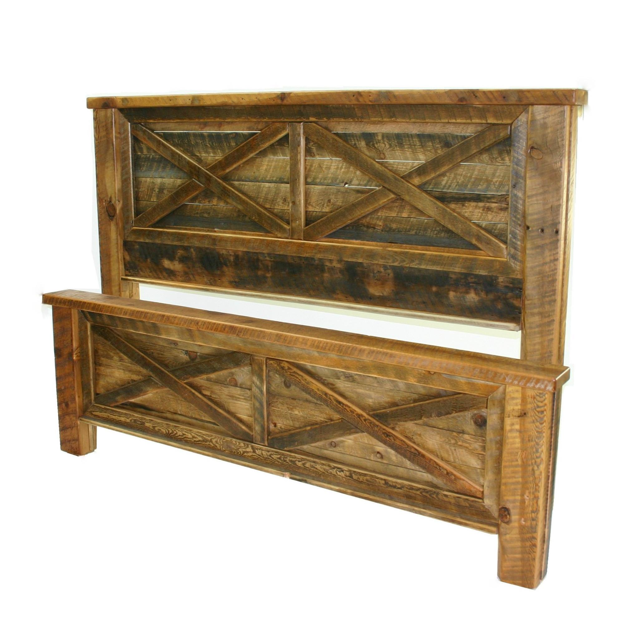 Bridger  Barnwood straight planks with the barn door style XX.