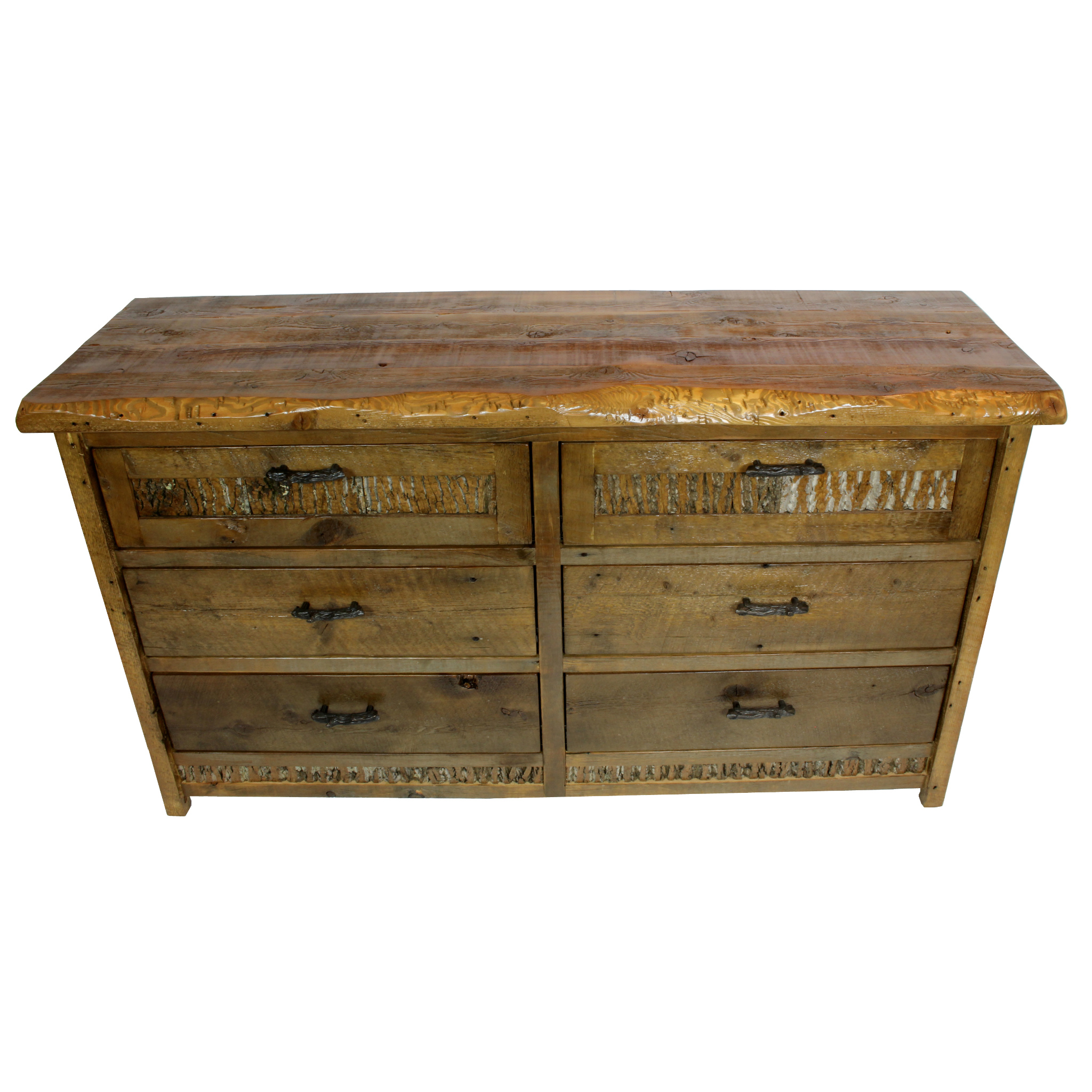 Mountain side dresser  Shown in reclaimed barnwood. Features branch handles. Part of the Mountain Side Collection.