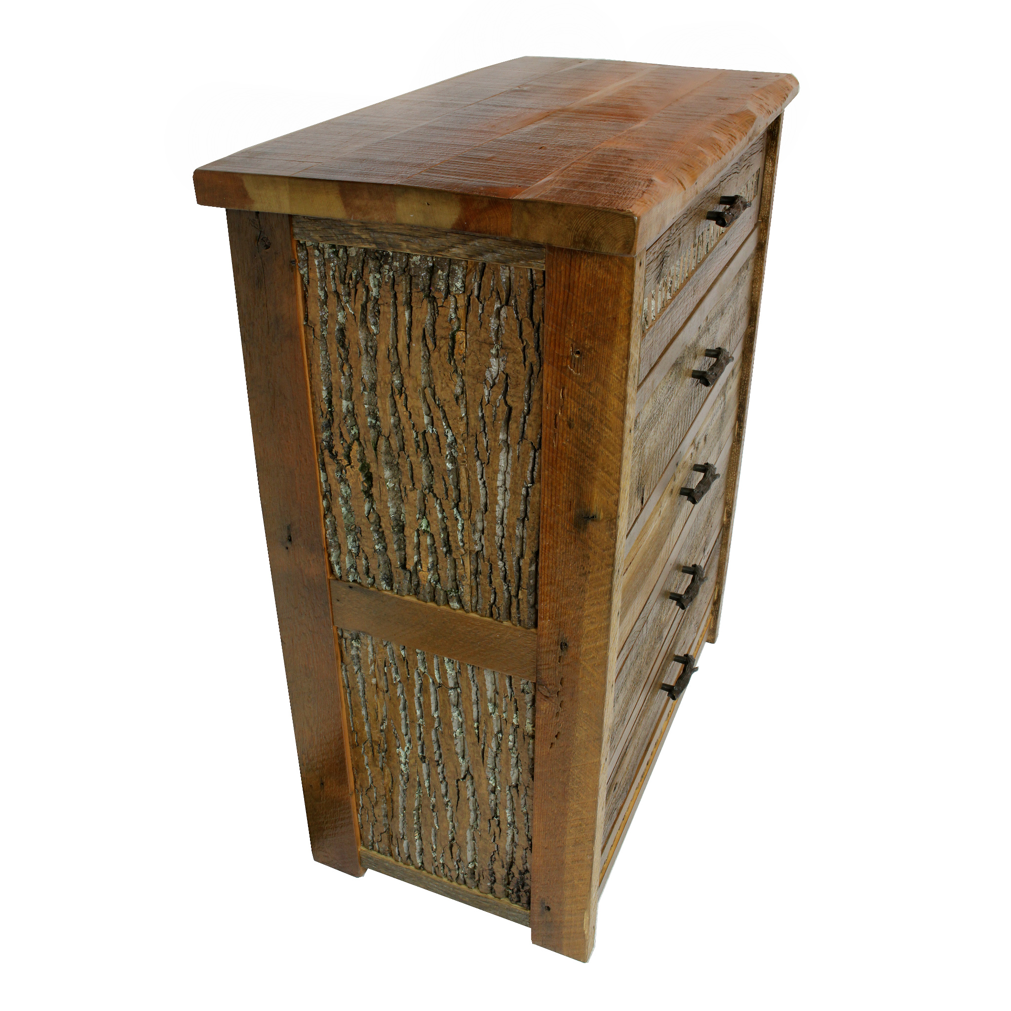 mountain side dresser  Shown in reclaimed barnwood. Available in 4, 5 or 6 drawers. Part of the Mountain Side collection.