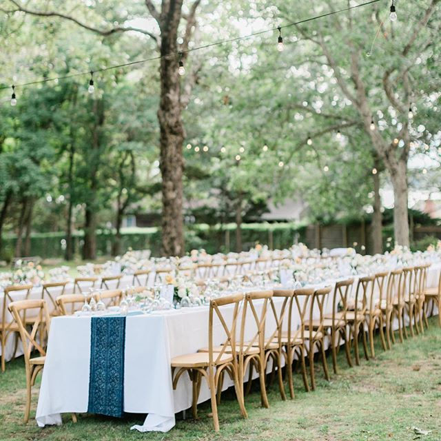 What a great start to our September weddings! Congrats to Megan & Jamie on their stunning outdoor affair photographed by @cadence_kennedy | Coordination: @lovelyindeedevents | Florals: @avaflora | Venue: @theramsheadinn | Rentals: @pbsevents | Reception Music: @hanklane | Cake: @sugarlanecakeshop | Stationary: @twinklesndtoast | Film: @nstpictures  Up next: putting the final touches on Molly & Matthew's wedding this weekend in Montauk!