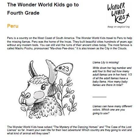 Fourth Grade in Austria and Peru