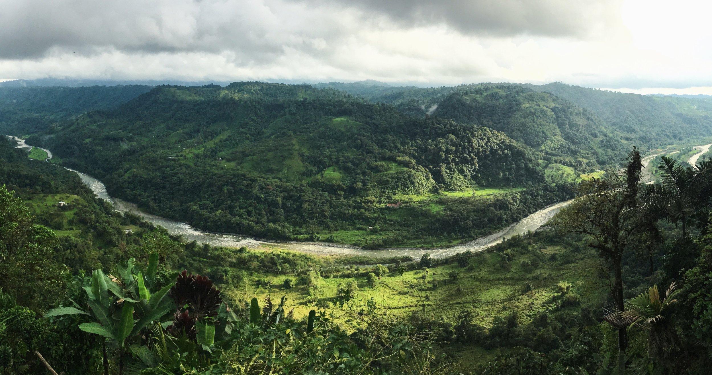 Río Blanco in Mindo Los Bancos in Ecuador. Photo by Scott Stone