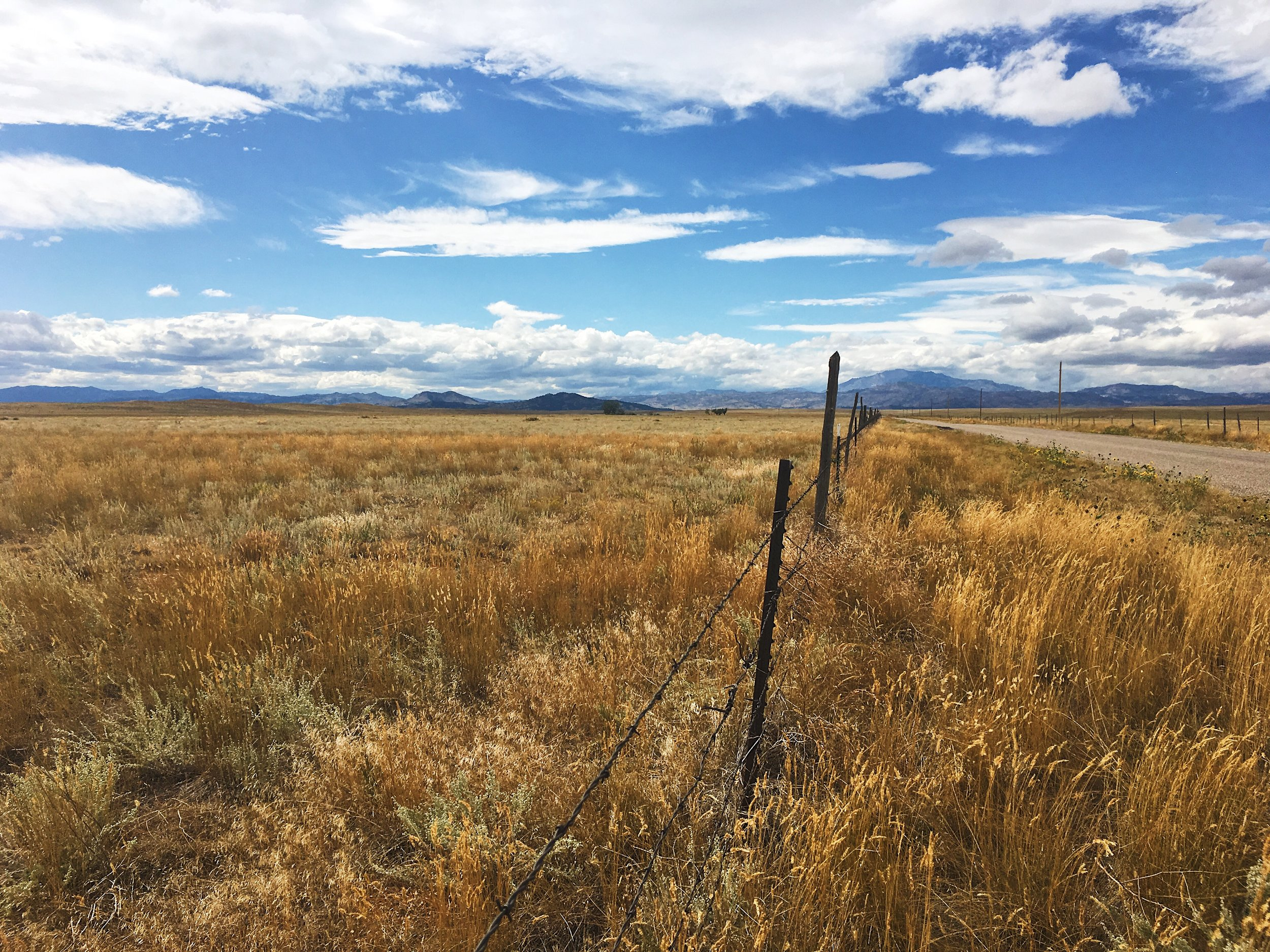 A far-off view of the Laramie Mountains in Wyoming, a bit north of Medicine Bow National Forest and Rocky Mountain National Park.  Photo by Scott Stone