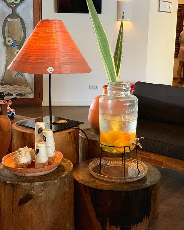 Did you see our custom made lamp💡, a lampshade made out of used cleaning bottles, for @morenaresort 🌅